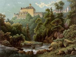 Schloss Fürstenstein von Alexander Duncker, zwischen 1857 und 1883