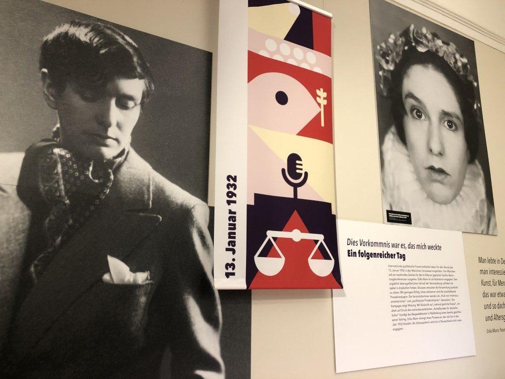 Politisierung Erika Manns. Station in der Erika Mann-Ausstellung der Monacensia