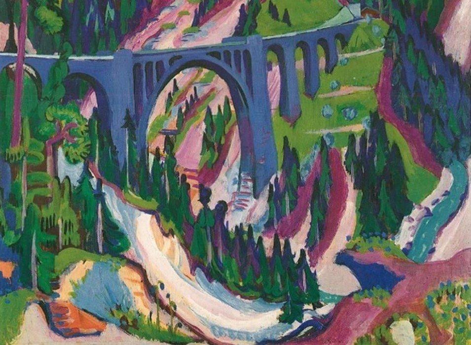 Mythos Davos: Ernst Ludwig Kirchner, Die Brücke bei Wiesen, 1926. ©Kirchner Museum, Davos.