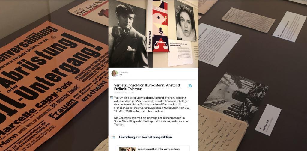 Collection zur Vernetzungsaktion #ErikaMann der Monacensia, Wakelet