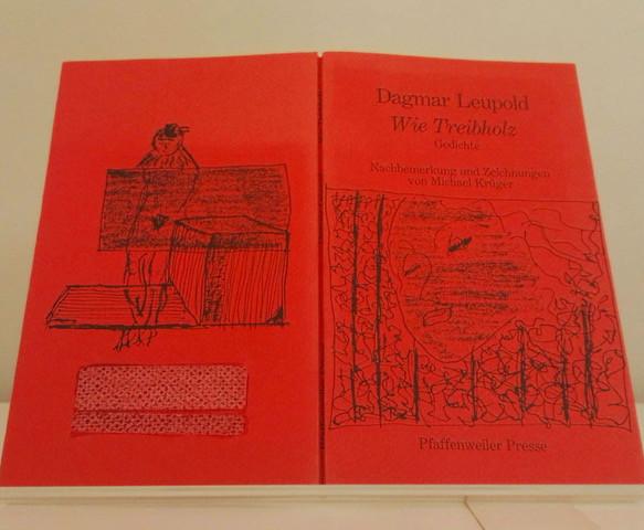 Buchdeckel vom ersten Lyrikband von Dagmar Leupold: Wie Treibholz. Gedichte (1988).