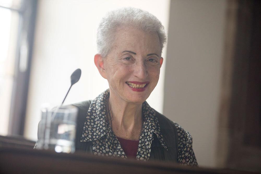 Hélène Cixous bei der Zeremonie zur Verleihung der Möser-Medaille am 04.12.2018 in Osnabrück / © Swaantje Hehmann. #femaleheritage