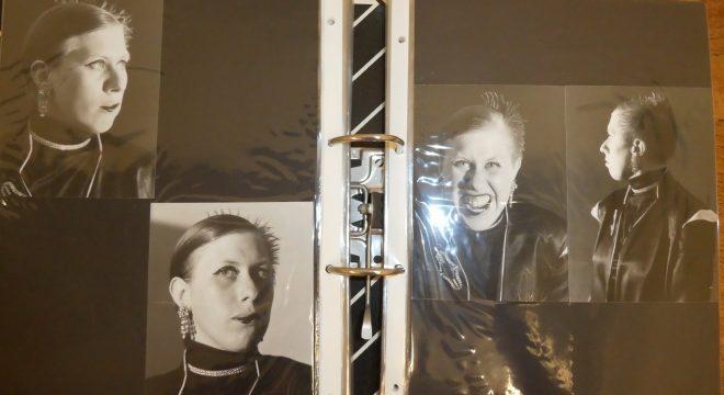 Porträts der Künstler_in Rabe Perplexum; Quelle: Münchner Stadtbibliothek / Monacensia