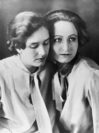 Erika Mann und Pamela Wedekind, Quelle: Münchner Stadtbibliothek / Monacensia