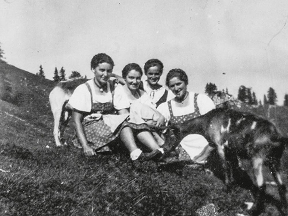 Sennerinnen - Weidewirtschaft in den Bergen. Prima Beispiel für #femaleheritage
