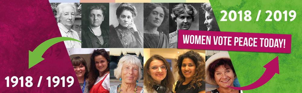 Logo des Projekts Women Vote Peace (www.womenvotepeace.com) - europäische Erinnerungskultur-#femaleheritage