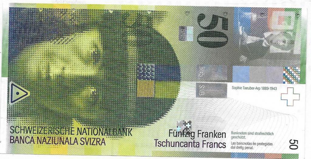 Scan 50-Franken-Note mit Sophie Taeuber-Arp